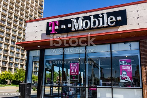 Indianapolis - Circa September 2016: T-Mobile Retail Wireless Store. T-Mobile is a wireless provider offering cell phones, data plans and accessories VI