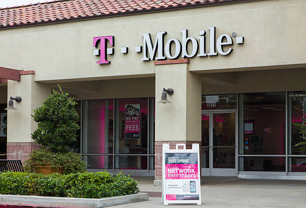 T-Mobile Store Exterior stock photo