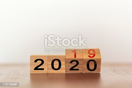 1066508880 istock photo 2019 to 2020. New year concept 1191765561