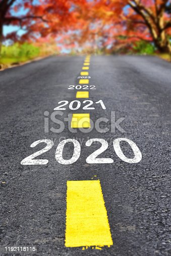 istock 2020 to 2023 on asphalt road surface with autumn season background 1192118115