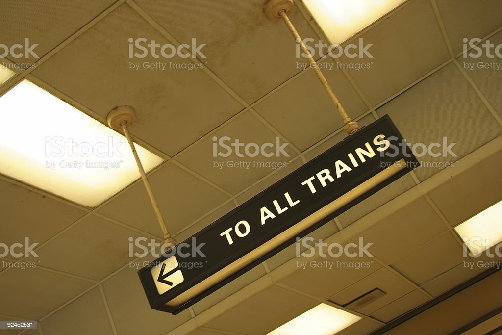 To All Trains stock photo