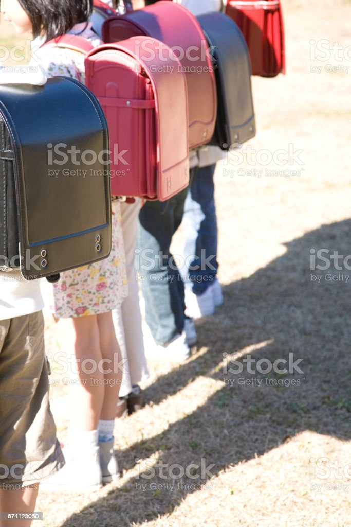 To arrange elementary school royalty-free stock photo