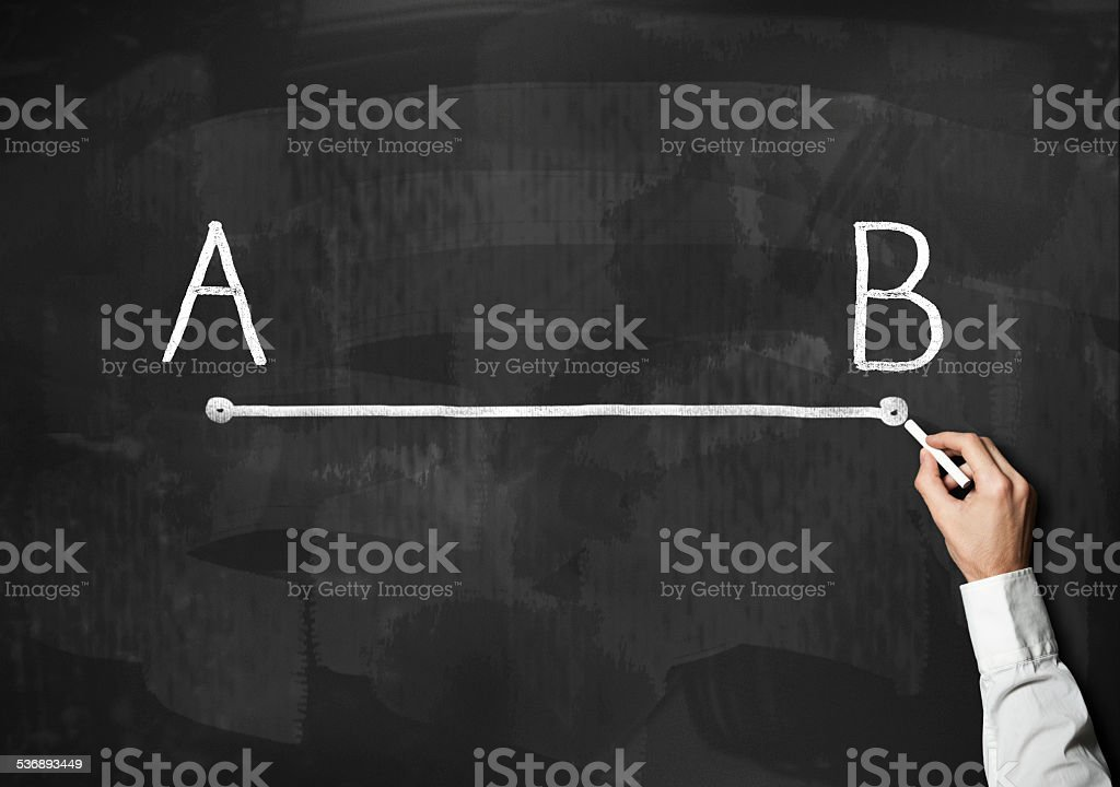 / A to B / Blackboard concept (Click for more) stock photo