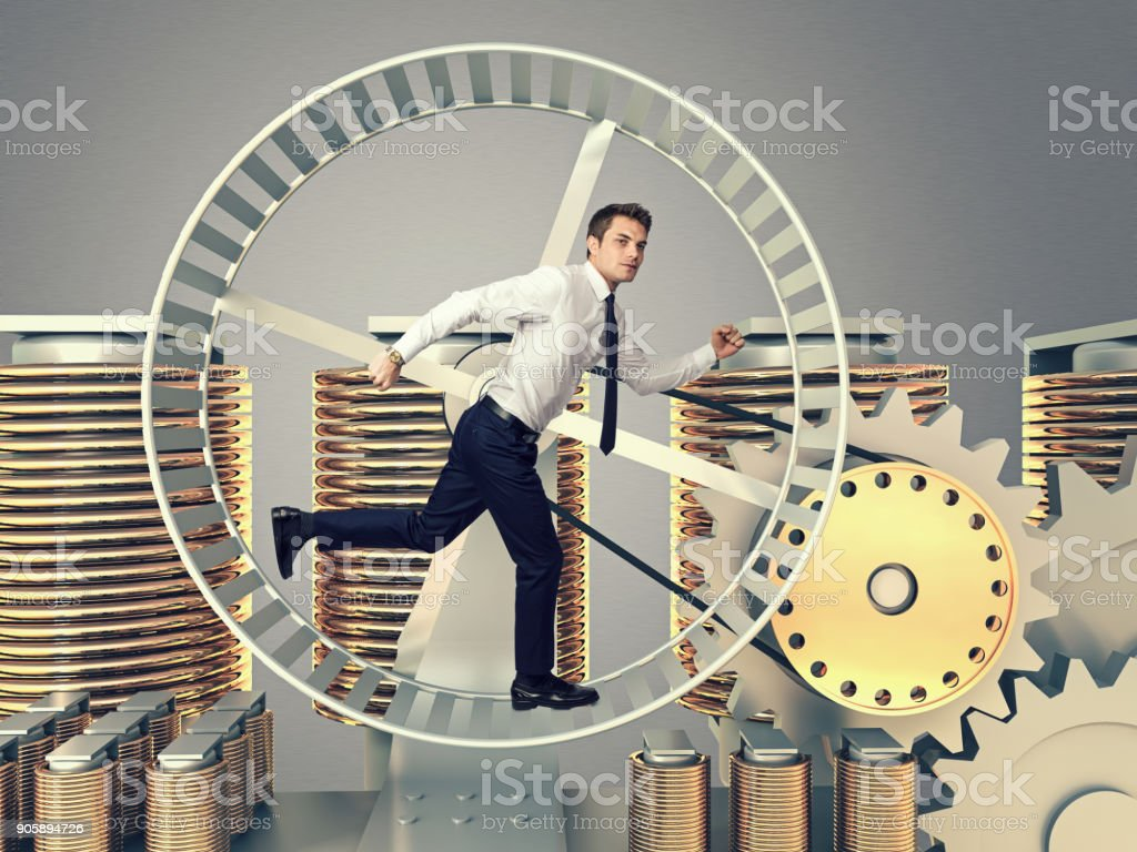 to be a work slave stock photo