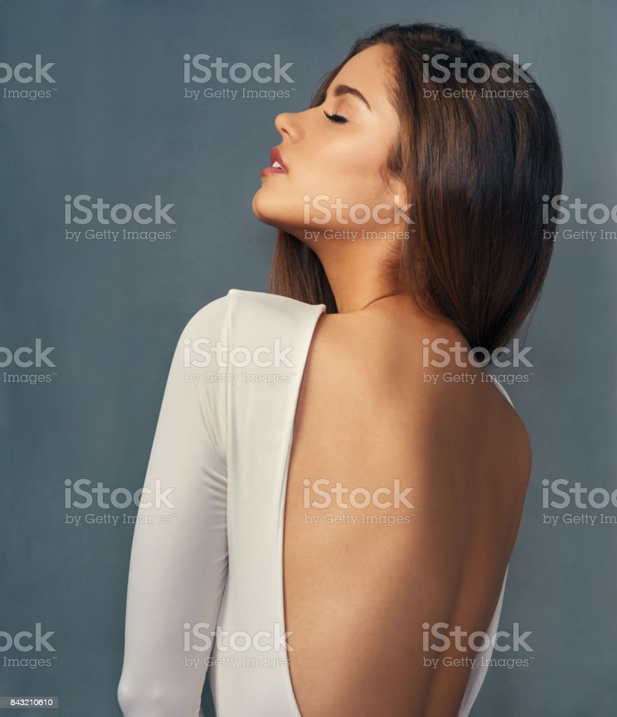 To call her beautiful is an understatement stock photo
