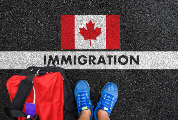 IMMIGRATION to Canada stock photo
