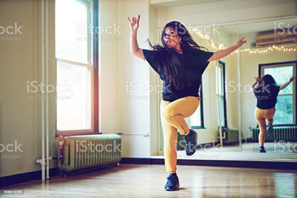 To dance is to live stock photo