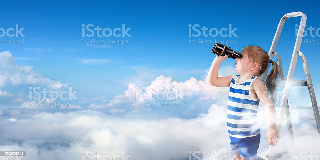 To Discover New Horizons stock photo