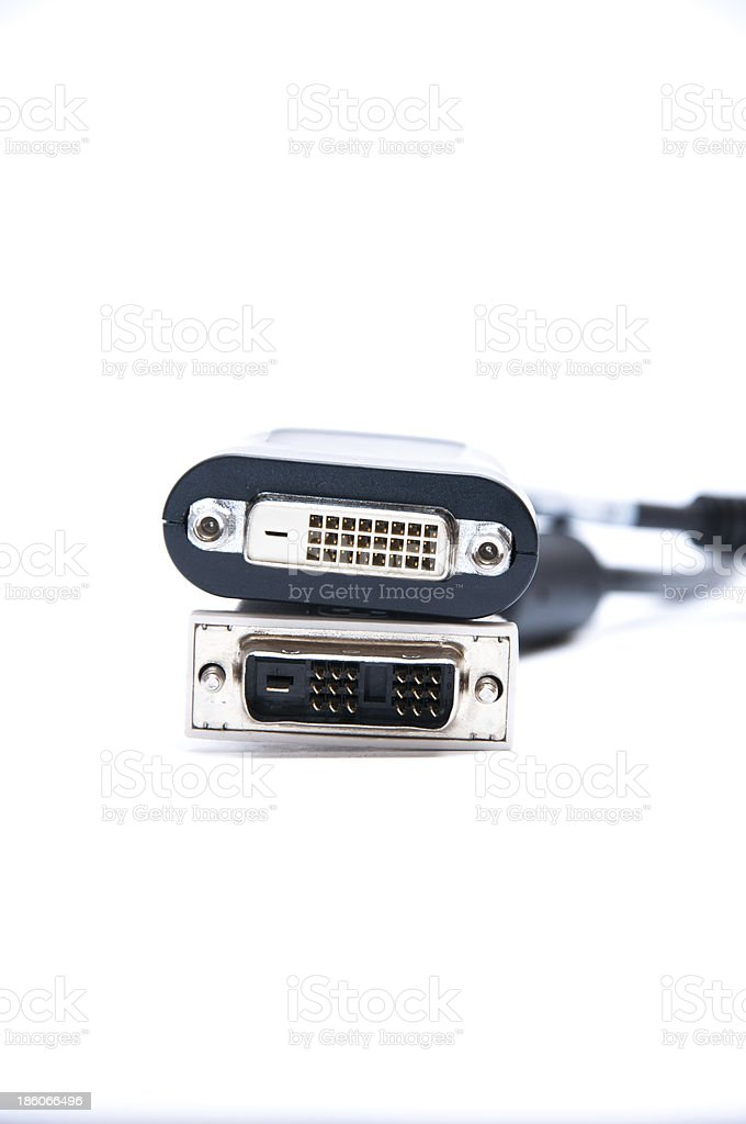DVI to display port adapter royalty-free stock photo