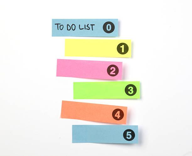 Conceito de lista de tarefas - foto de acervo