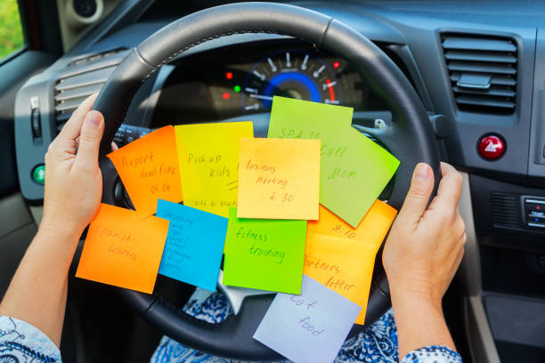 to do list in a car - busy stock photos and pictures
