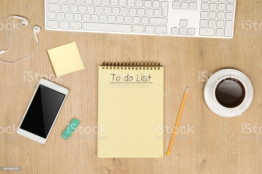 To do List notepad on the table stock photo