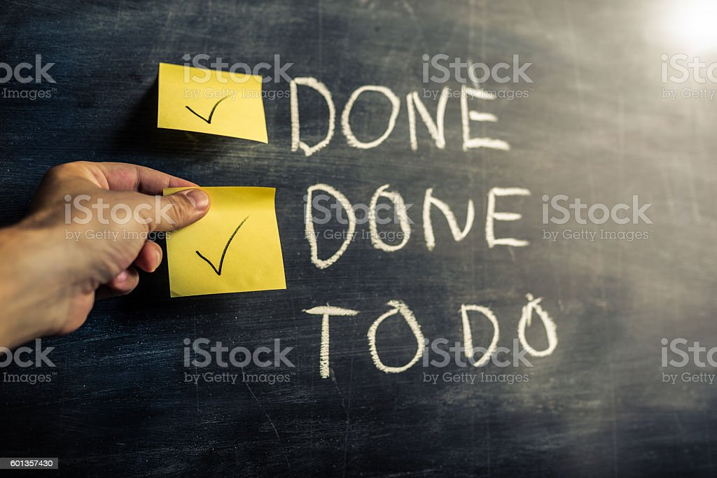 To do list on blackboard stock photo