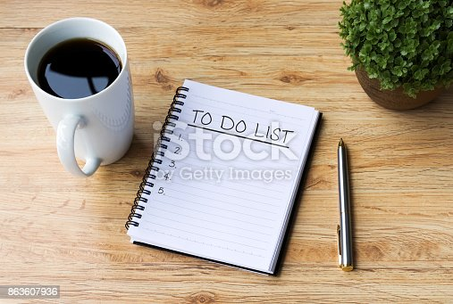 To Do List, Coffee - Drink, Desk, Plans, Goals, Note Pad