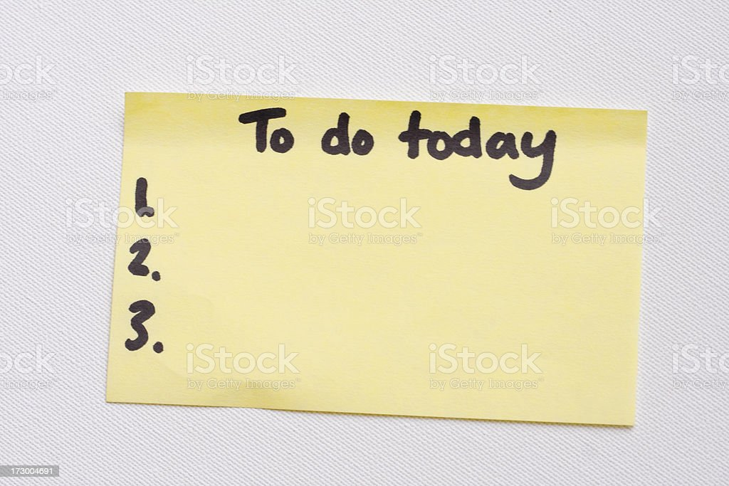 To do list on post it note royalty-free stock photo