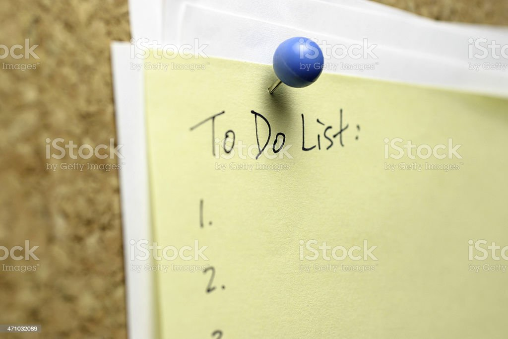 To Do List royalty-free stock photo