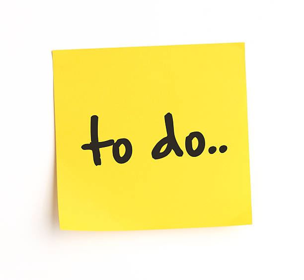 Lista de tarefas - foto de acervo