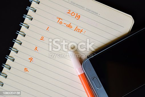 1076095678 istock photo 2019 to do list text on notebook 1060054138