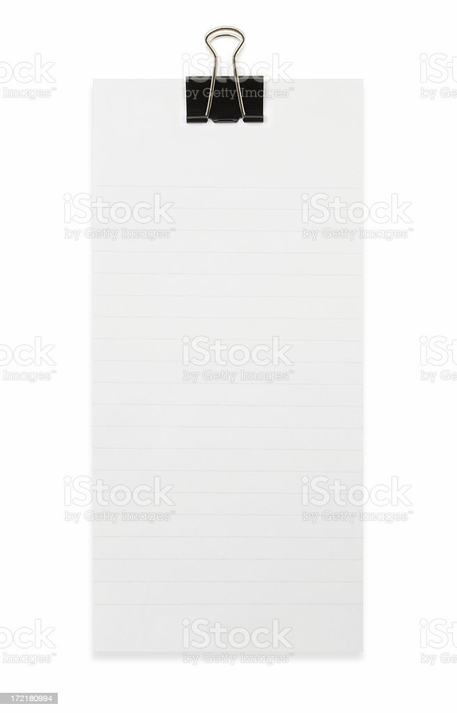 To do list with Binder clip royalty-free stock photo