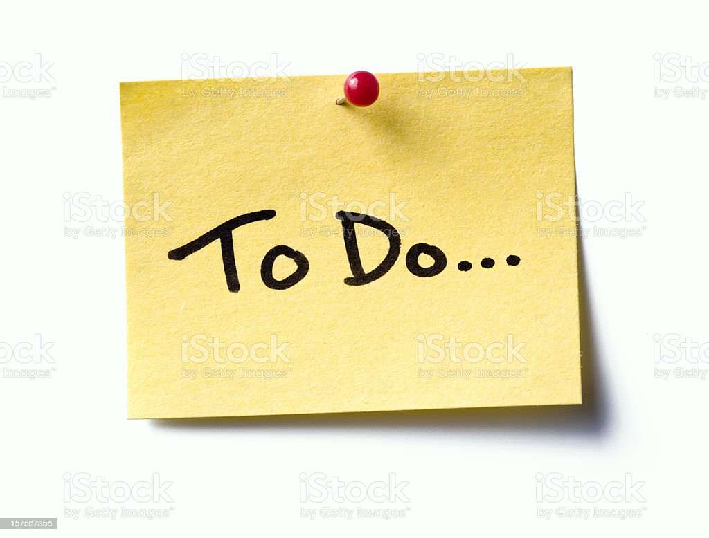 to do...  post-it. stock photo