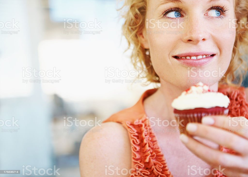 To eat or not stock photo