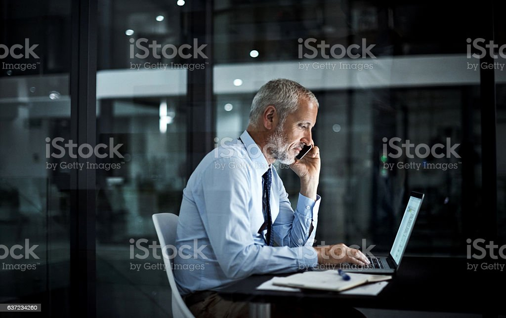 To ensure success, you've got to work for it stock photo