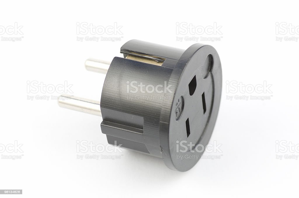 USA to Euro Electrical Adaptor royalty-free stock photo