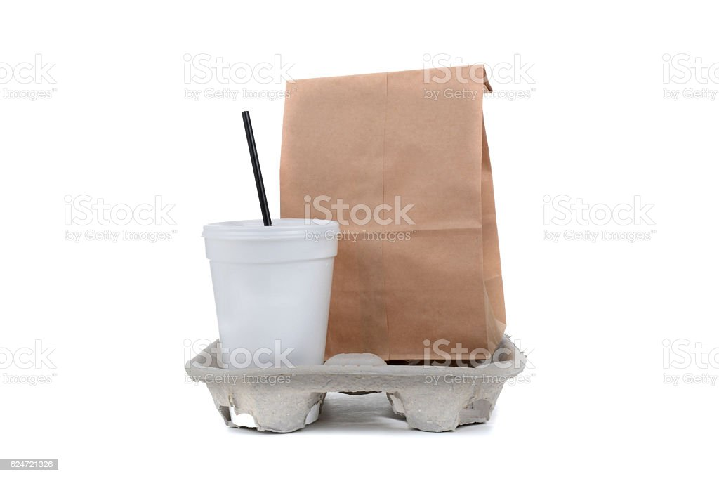 To Go Lunch stock photo