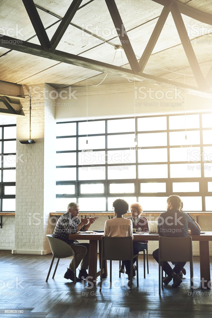 To have a great team is to have great ideas stock photo