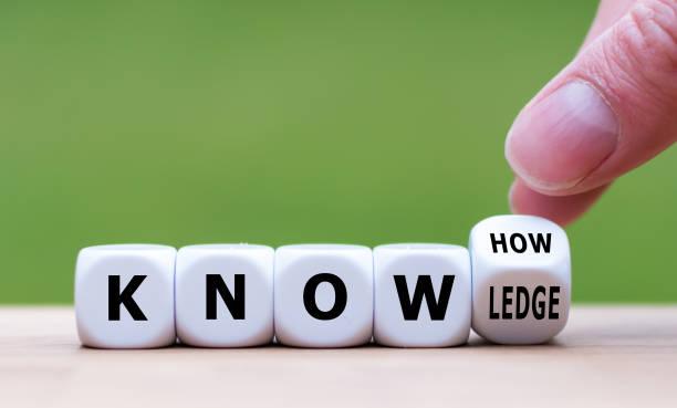 """有訣竅或知識。手變成了骰子, 把 """"訣竅"""" 變成了 """"知識""""。 - 專長 個照片及圖片檔"""