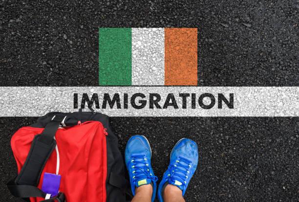 IMMIGRATION to Ireland stock photo