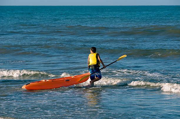 to kayaking stock photo