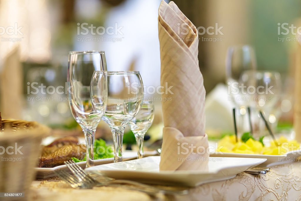 to lay the table stock photo