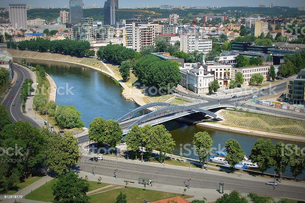 To Lithuania - Vilnius city стоковое фото
