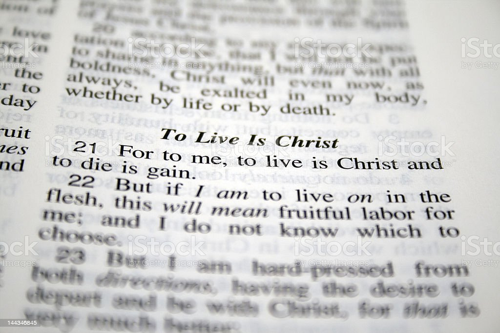 To live is Christ... royalty-free stock photo