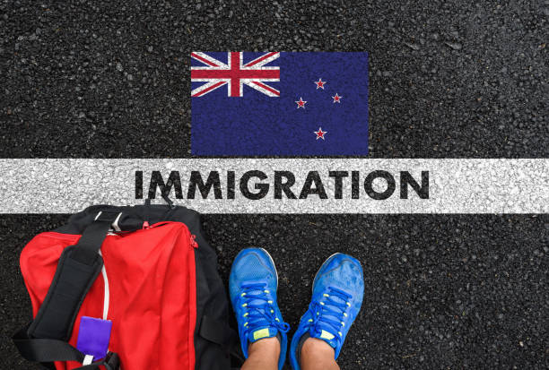 IMMIGRATION to New Zealand stock photo