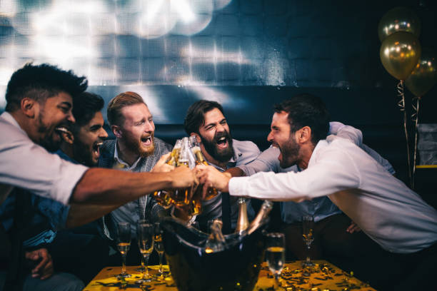 to nights like these ! - stag night stock pictures, royalty-free photos & images