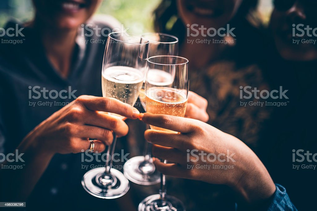 To our friendship! stock photo
