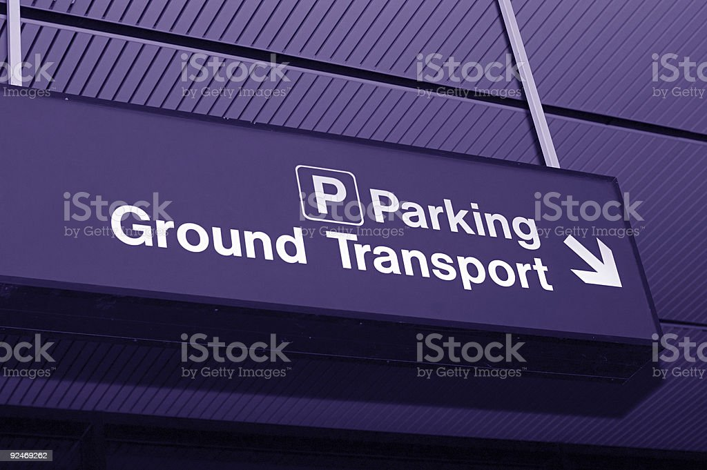 To parking and transportation stock photo