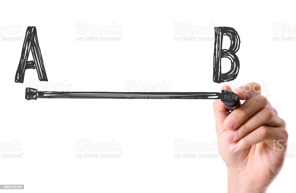 A to point B stock photo