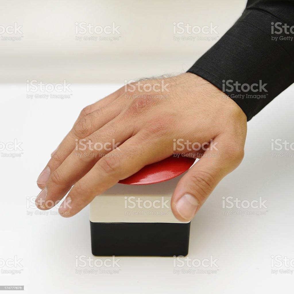 to push a button symbolize starting the engine stock photo