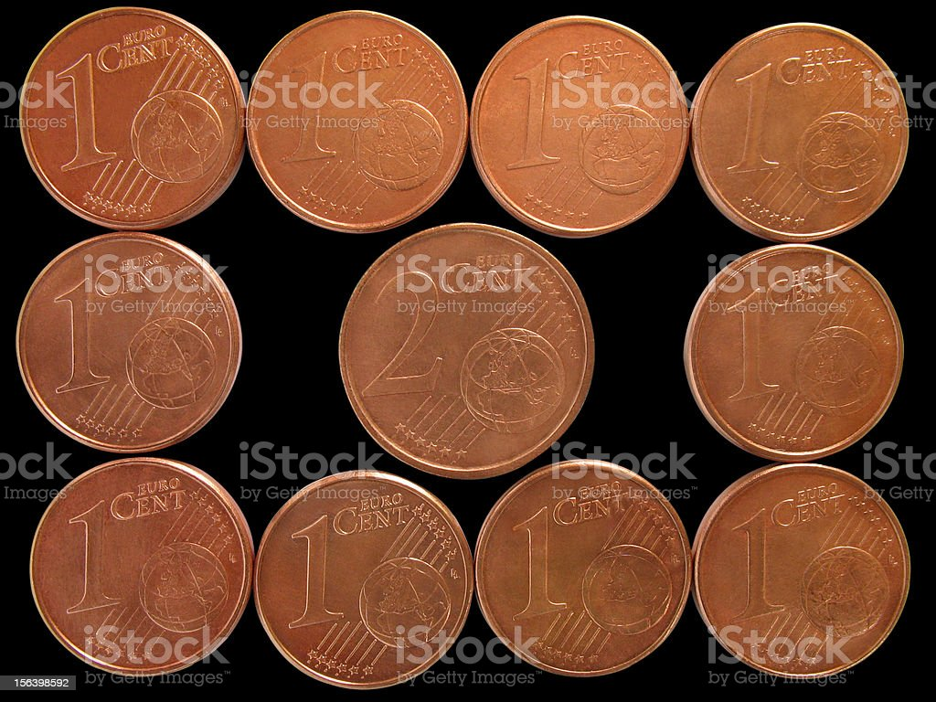 'To put two cents in' stock photo