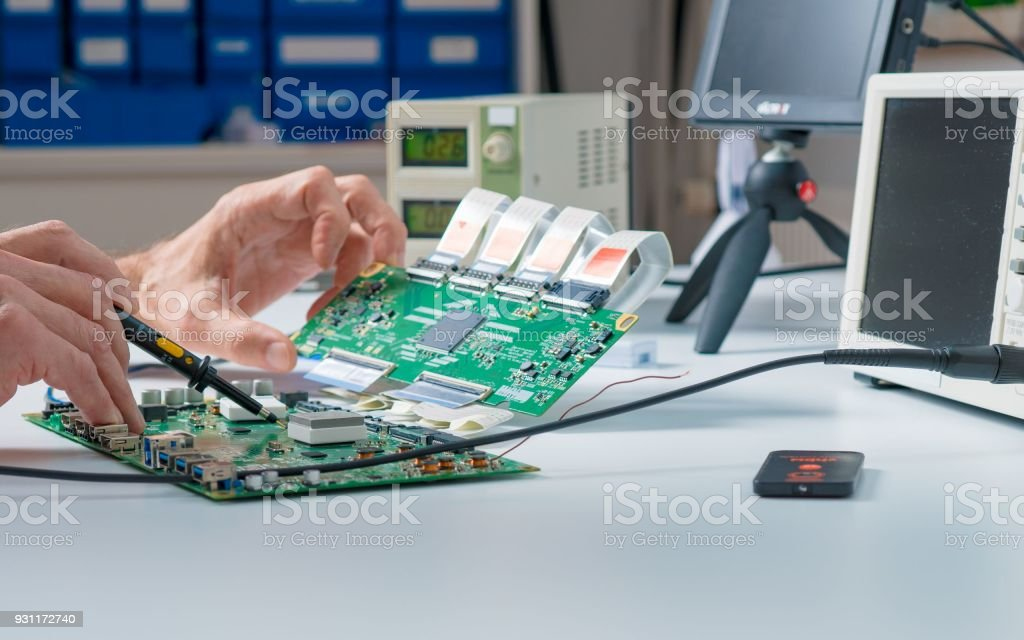 To Repair The Pcb Of A Modern Monitor At The Service Center