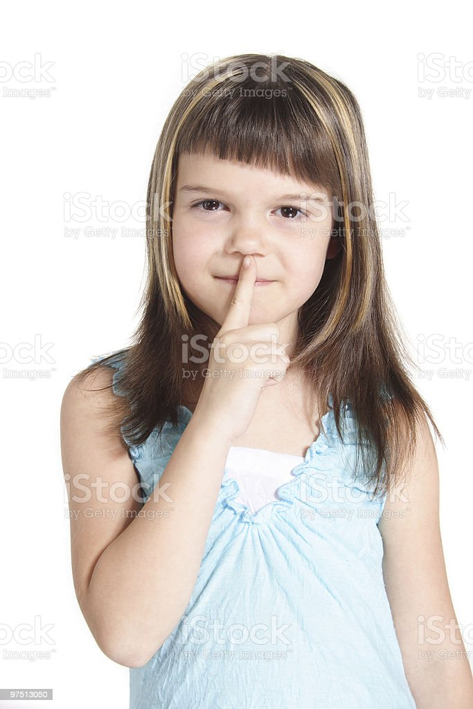 To request silence royalty-free stock photo