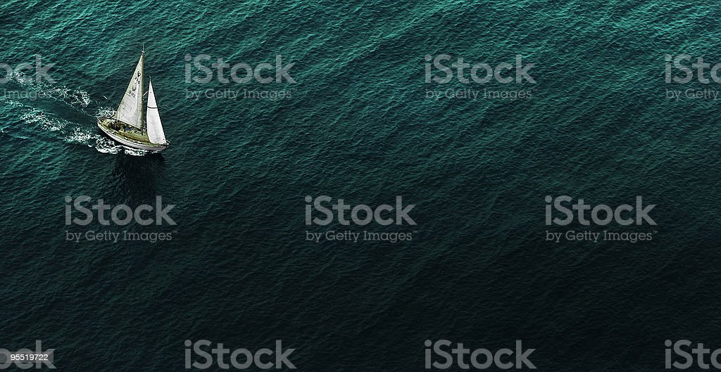 To sail in the sea stock photo