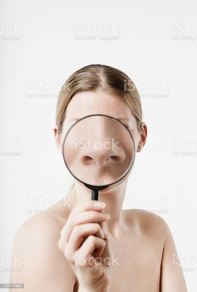 to smell stock photo