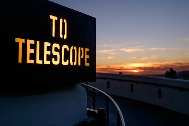 To Telescope stock photo