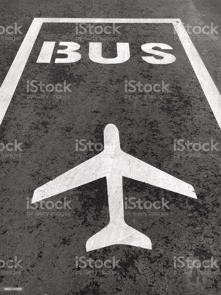 To the Airport. Shuttle Bus Stop Sign. royalty-free stock photo