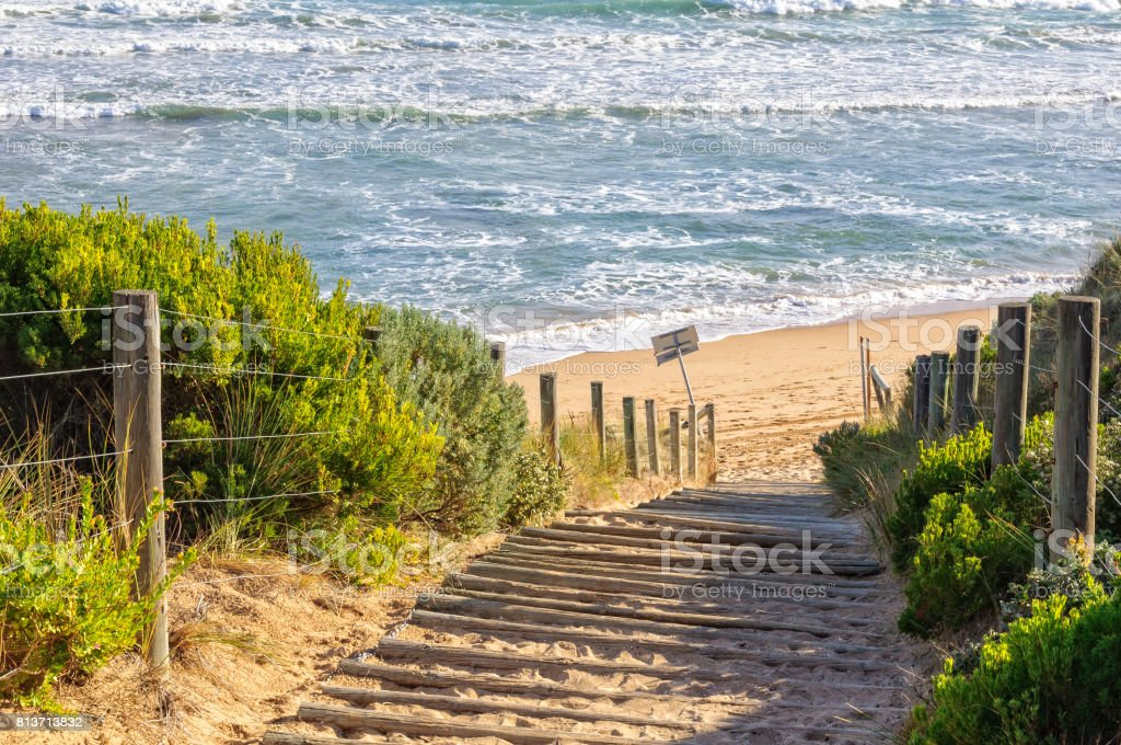 To the beach - Point Lonsdale stock photo