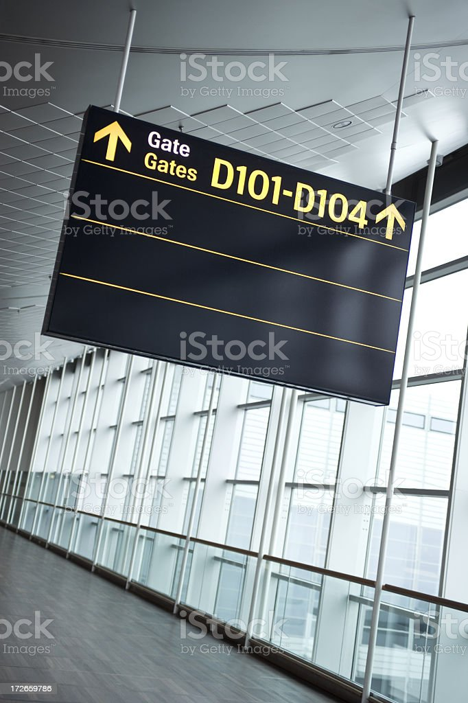 To the Gate royalty-free stock photo